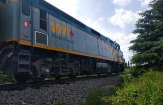 Train pour l'aventure en canoë au Québec