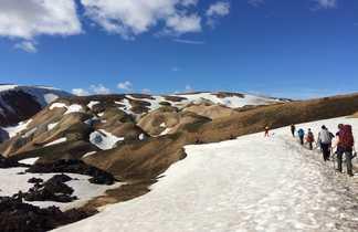 Trek sur la neige de Landmannalaugar