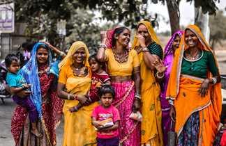 Une groupe de femmes en Inde