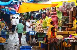 Un marché en Inde