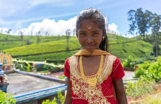 Une petite fille tamoule