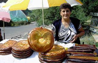 Vendeuse de Lavash pain arménien