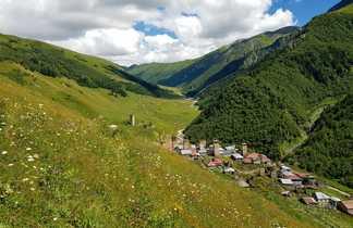 Village Adishi dans la Svanetie
