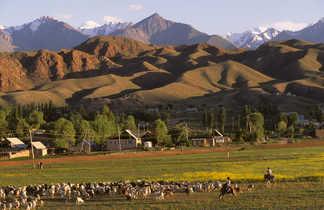 trek, voyage d'aventure combiné Tadjikistan, Ouzbékistan, Kirghizie
