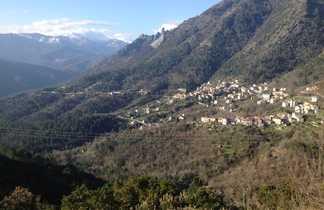 village de Bocognano et ses montagnes