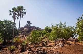 Village de l'ethnie Bedick dans le Sénégal oriental