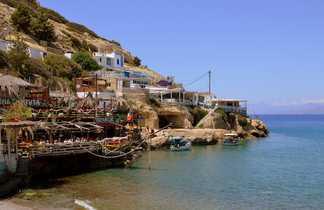 Village de Matala lors d'une randonnée en Crète