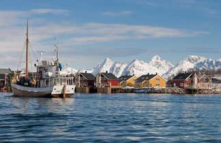 Village des Lofoten en hiver