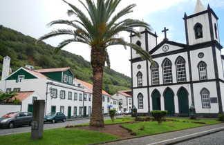 Cathédrale dans la ville de Madalena sur l'île de Pico aux Açores