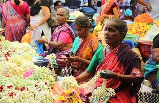 voyage Inde du sud, marché Pondichery