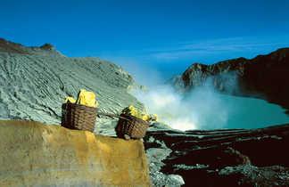 Volcan Kawajen en Indonésie