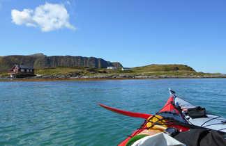 Voyage en kayak l'été en Norvège