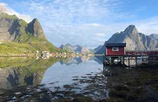 Voyage en Norvège l'été village de Reine