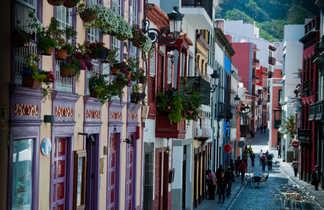 Vue de la calle real Jose Lourido à la Palma aux Canaries
