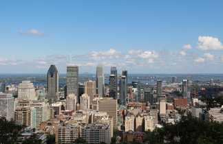 Vue de Montréal depuis le Mont Royal