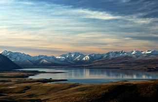 Vue imprenable sur les montagnes environnantes du Lac Tekapo