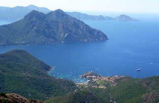 Vue panoramique de Corse du nord
