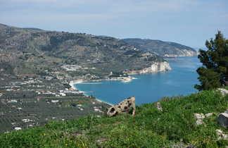 Vue panoramique du Monte Saraceno en Italie