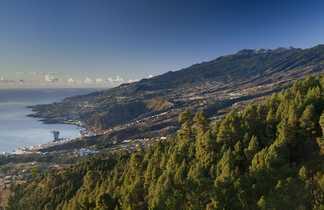 Vue panoramique sur la Palma aux Canaries
