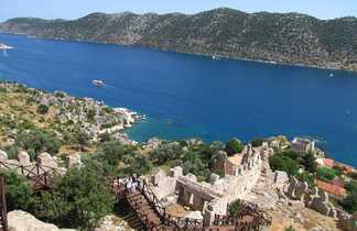 Vue sur la baie de Kekova en Turquie
