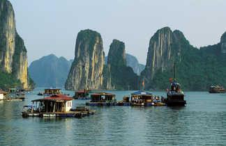 Vue sur la baie d'Ha long au Vietnam