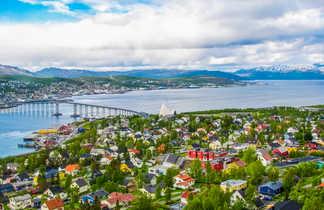 Vue sur la ville de Tromso en Norvège