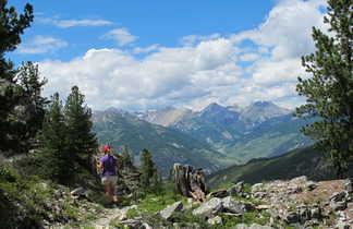 Vue sur le massif des Ecrins, Alpes du sud