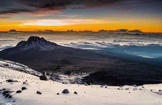 Vue sur le Mawenzi, massif du Kilimandjaro