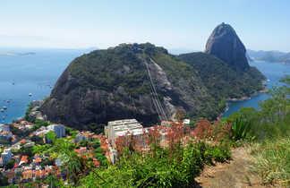 Vue sur le Morro da Urca et le Pain de Sucre à Rio
