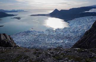 Vue sur les glaciers du spitzberg