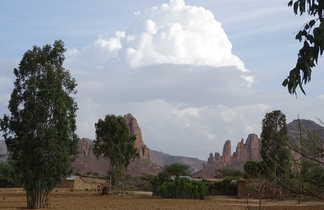 Vue sur les montagnes du Ghéralta en Ethiopie