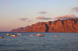 vue sur mer et barques , Crète