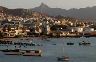 Vue sur Mindelo au Cap Vert