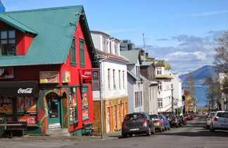 Vue sur Reykjavik en Islande