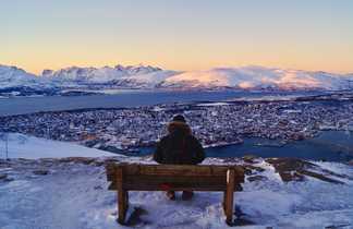 Vue sur Tromso l'hiver