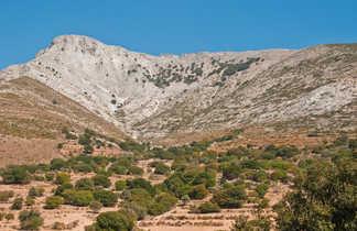 vue sur versant de mont de Naxos