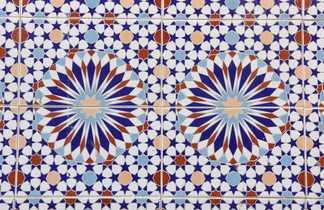 Zelige étoile au Maroc
