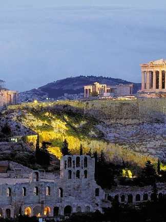 Acropole d'Athènes  vue de la ville