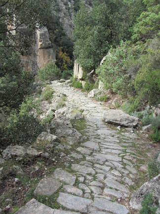 Ancien chemin muletier sur sentier de transhumance