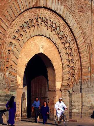 Bab Agnaou, médina de Marrakech, Maroc