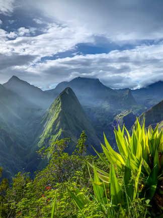 Cirque de Mafate caldera sur l'île de la Réunion