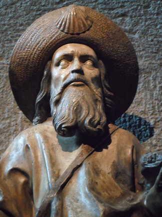 Compostelle - statue Saint Jacques - cathédrale du Puy en Velay
