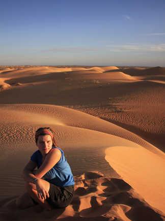Coucher de soleil sur les dunes, Mauritanie