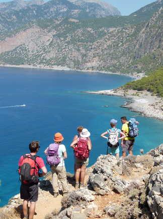 Crete, Randonnée de Loutro à Agia Roumeli