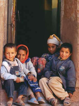 Enfants berbères, Maroc