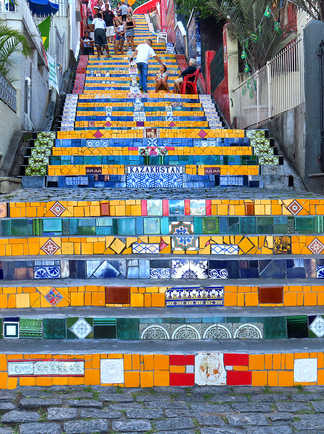 Escadaria de Selaron à Santa Teresa, Rio