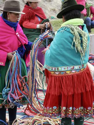 femmes au marché de Guamote
