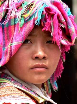 Fillette d'une ethnie vietnamienne