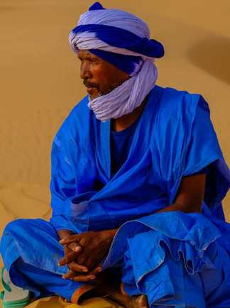Guide Maure portrait, Mauritanie