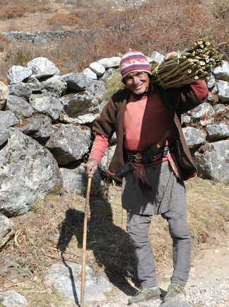 Habitant de la vallée du Langtang